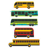Bus-Seite und Transport-Vektor Stockfotografie