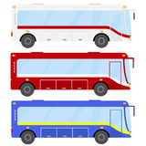 Bus set. Flat design, illustration stock illustration