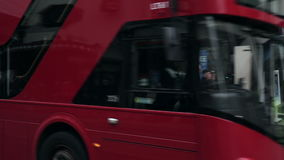 Bus at Shaftesbury Avenue in London stock video footage