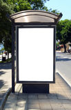 Bus shelter. This is for advertisers to place ad copy samples on a bus shelter royalty free stock photos