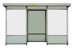 Bus shelter. Bus stop, isolated on white royalty free stock photography