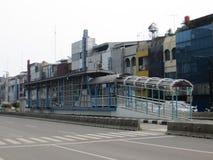 Bus shelter in Jakarta Stock Image