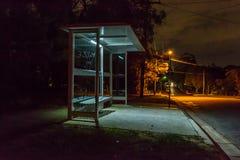 Bus shelter at night Royalty Free Stock Photo