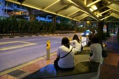 Bus shelter, Singapore Royalty Free Stock Image