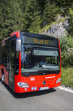 Bus shuttle to the Kehlsteinhaus, Obersalzberg, Germany. Bus shuttle of the special mountain bus service to the top of the Kehlstein, where the Kehlsteinhaus ( Stock Images