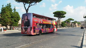 Bus sightseeing Rome stock footage