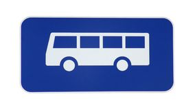 Bus Sign. Isolated on white Stock Photography