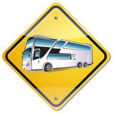 Bus sign. On white background Royalty Free Stock Images