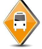 Bus sign. Vector illustration bus sign - 3d Royalty Free Stock Image