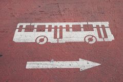Bus Sign Stock Image