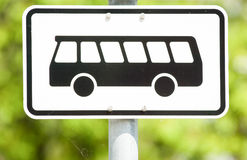 Bus sign. Front view - photo Royalty Free Stock Images