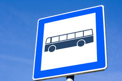 Bus sign Stock Photos