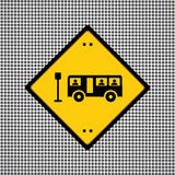 Bus sign. General symbol needed for use Stock Photography