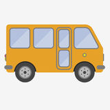 Bus sign icon. Public transport symbol. Yellow bus sign icon. Public transport symbol. Flat  stock illustration Stock Photos