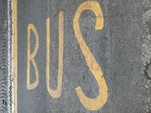 Bus sign Royalty Free Stock Image
