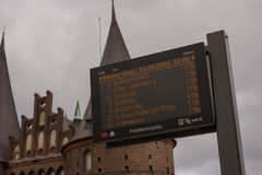 Bus Sign in Lubeck Royalty Free Stock Photo