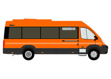Bus silhouette on a white background Royalty Free Stock Photo