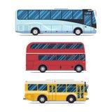 Bus sity transportation. Modern flat design Royalty Free Stock Photo