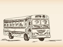 Bus sketch. Hand drawn bus sketch illustration Royalty Free Stock Image