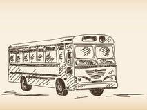 Bus sketch Royalty Free Stock Image