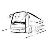 Bus sketch. Vector illustration : Bus- sketch on a white background Royalty Free Stock Photos