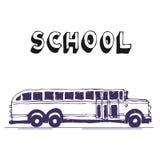 bus skolan Stock Illustrationer