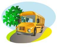 bus skolan Royaltyfria Bilder