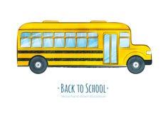bus skolan Arkivbild