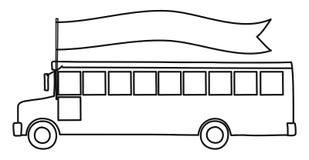 bus skolan tillbaka skola till royaltyfri illustrationer