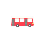 Bus solid icon, navigation and transport sign. Vector graphics, a colorful flat pattern on a white background, eps 10 Stock Image