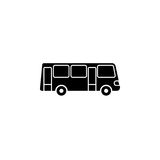 Bus solid icon, navigation and transport sign. Vector graphics, a filled pattern on a white background, eps 10 Stock Photography