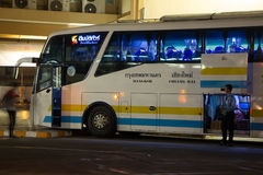 Bus of Sombattour company. Royalty Free Stock Photo