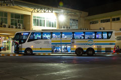 Bus of Sombattour company. Route Bangkok and Chiangmai Stock Photography