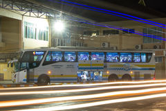 Bus of Sombattour company. Route Bangkok and Chiangmai Royalty Free Stock Image