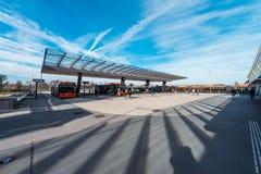 Bus/sottopassaggio/metropolitana/stazione della metropolitana Amsterdam Noord, Nederland fotografia stock