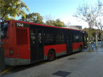 The bus in Spain royalty free stock photo