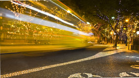 Bus Speed blur Madeira. Bus Speed blur Funchal Madeira royalty free stock photos