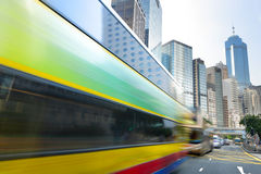 Bus speeding Royalty Free Stock Image