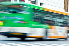Bus Speeding in motion Stock Photos