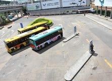 Bus station Stock Image
