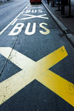 Bus station. Sign on the street Stock Photography