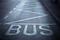 Bus station. Road markings of bus station Royalty Free Stock Photos