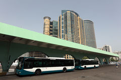Bus station in Abu Dhabi Stock Photography