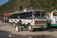 Bus station in Beni Royalty Free Stock Photography