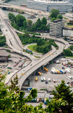 Bus station in Bergen city in Norway Stock Photography