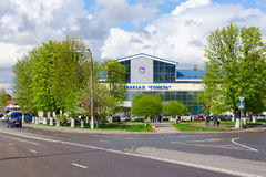 Bus Station building in Gomel, Belarus Stock Images