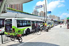 Bus Station. Buses originating station in shanghai Stock Photo