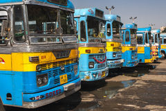 Bus station in Calcutta Royalty Free Stock Image