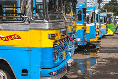 Bus station in Calcutta Stock Photos