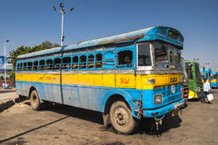 Bus station in Calcutta Stock Images
